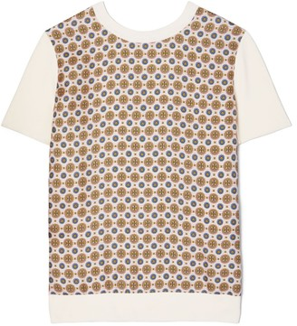 Tory Burch Silk Front T-Shirt