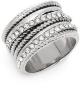 Saks Fifth Avenue Multi-Texture Bling Ring/Silvertone