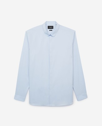 The Kooples Mens white shirt in cotton with round collar