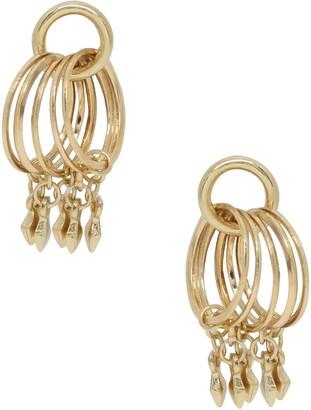 Ettika Charm Hoop Stud Earrings
