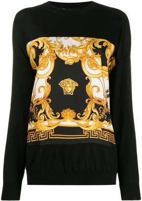 Versace Barocco Rodeo print jumper
