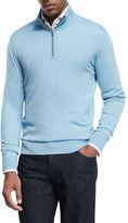 Isaia Merino Wool Quarter-Zip Sweater