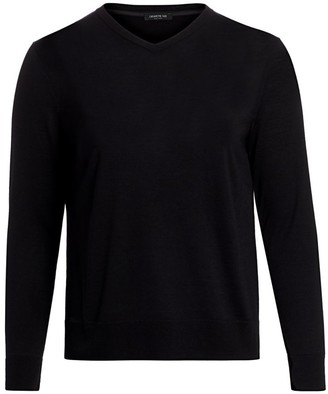Lafayette 148 New York, Plus Size Fine Gauge Wool V-neck Sweater