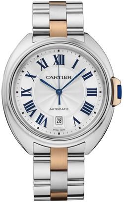 Cartier Cle de Large 18K Rose Gold & Stainless Steel Bracelet Watch