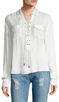 The Jetset Diaries Cruise Lace Up Blouse