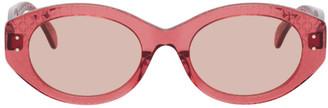Alaia Pink Round Cat Eye Sunglasses