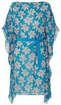 LK Bennett Cimone Blue White Silk Dress