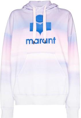 Etoile Isabel Marant Mansel tie dye logo jersey hoodie