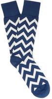 Paul Smith Chevron-Patterned Cotton-Blend Socks