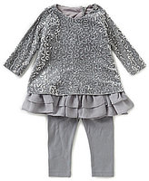 Rare Editions 3-24 Months Sequin-Embellished Dress & Leggings Set