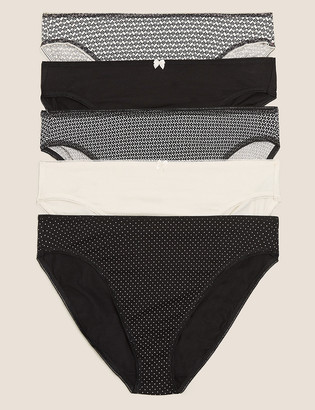 Marks and Spencer 5 Pack Cotton High Leg Knickers