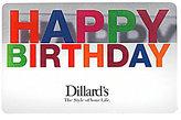 Dillard's Happy Birthday Illusion Gift Card