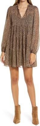 Ever New Ebony Long Sleeve Shift Minidress