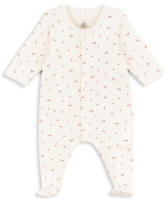 Petit Bateau Baby Girl's Cherry-Print Cotton Footie