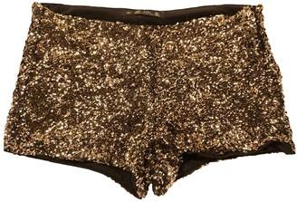 Zara Gold Glitter Shorts for Women