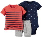 Carter's Baby Boy Nautical Bodysuit, Tee & Shorts Set