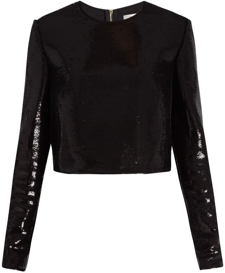 Diane von Furstenberg Zip-back sequinned top