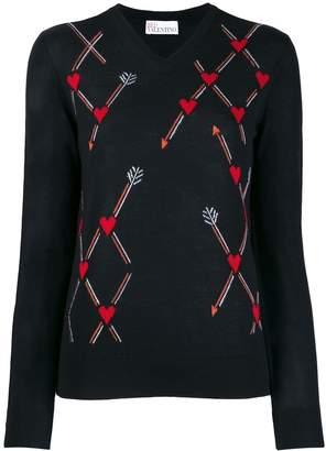 RED Valentino cupid arrow jumper