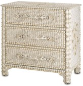 The Well Appointed House Natural Shells, Faux Coral and Wood Three Drawer Chest - CURRENTLY ON BACKORDER - CALL FOR AVAILABILITY