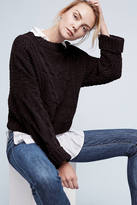 J.o.a. Cropped & Cabled Sweater