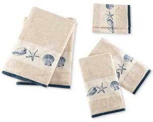 Madison Home USA Cotton 6-Pc. Embroidered Bayside Jacquard Towel Set Bedding