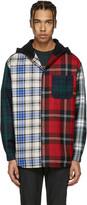 Alexander Wang Multicolor Hooded Patchwork Overshirt