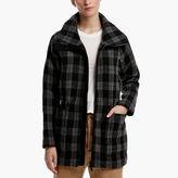 James Perse Plaid Parka Coat