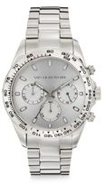 Saks Fifth Avenue Stainless Steel Chronograph Sunray Dial Watch
