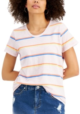 Style&Co. Style & Co Cotton Striped Pocket T-Shirt, Created for Macy's