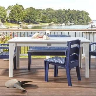 """3.1 Phillip Lim Uwharrie Chair Jarrett Bay Solid Wood Dining Table Uwharrie Chair Color: Black Wash, Table Top Size H x 48"""" L x 40"""" W"""