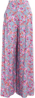 Hofmann Copenhagen Floral-print Woven Wide-leg Pants