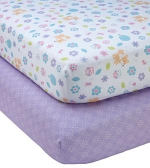 NoJo Adorable Orchard Crib Sheet 2-Pack Bedding