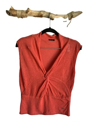 Sand Red Linen Top for Women