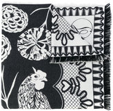 Temperley London Rooster blanket scarf