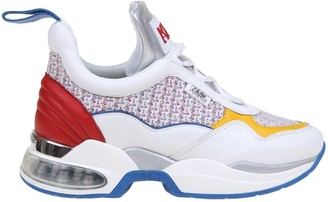 Karl Lagerfeld Paris Sneakers In Leather And Multicolor Fabric