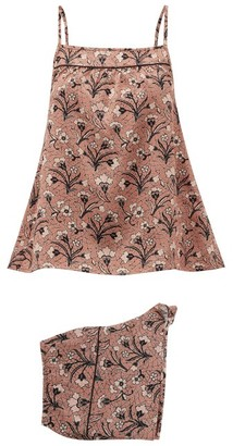 Morpho + Luna Coco Mirage-print Silk Pyjamas - Womens - Pink Multi