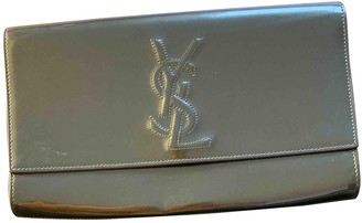 Saint Laurent Belle de Jour Khaki Patent leather Clutch bags