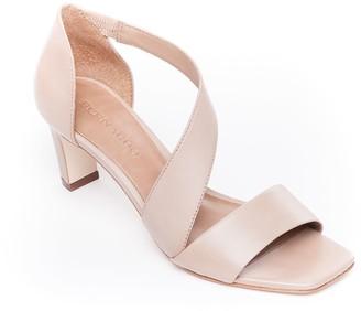 Bernardo Leather Mid-Heel Sandals - Camille