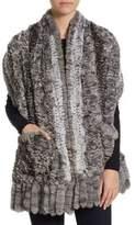 The Fur Salon Knit Chinchilla Stole