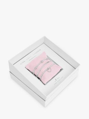 Joma Jewellery Live Love Sparkle Gift Box Bracelets, Silver