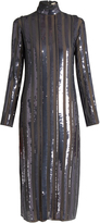 Nina Ricci Sequin-embellished stretch-silk dress
