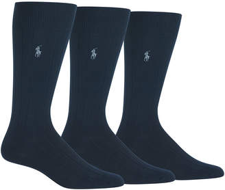 Polo Ralph Lauren Men 3-Pk. Super-Soft Ribbed Dress Socks