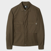Paul Smith Men's Khaki Cotton-Twill Shirt Jacket