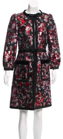 Marc Jacobs Embellished Jacquard Coat w/ Tags