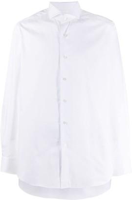 Xacus Spread-Collar Long Sleeved Shirt