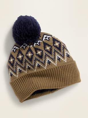Old Navy Sweater-Knit Pom-Pom Beanie for Men