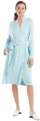 Natori N by Soho Brush Robe (Aqua Mist) Women's Pajama