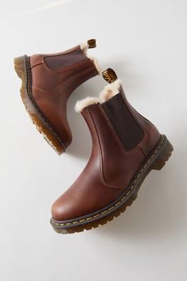 Dr. Martens 2976 Leonore Butterscotch Faux Fur-Lined Chelsea Boot