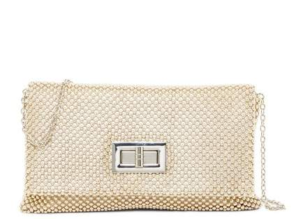 Jessica McClintock Beaded Mesh Clutch
