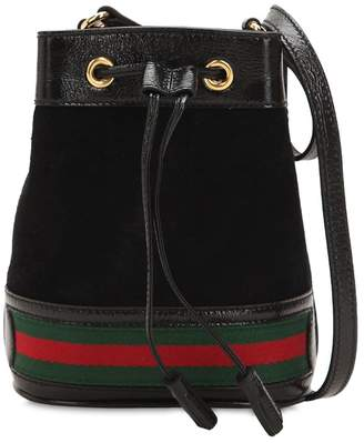 Gucci Mini Ophidia Suede Bucket Bag